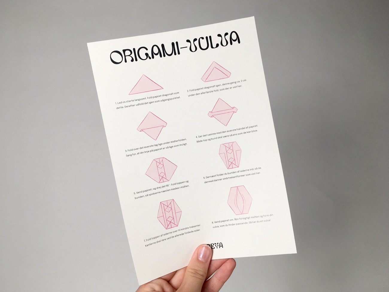 A guide for making origami vulvas - as a conversation starter to the female genitals